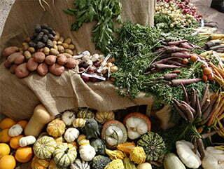 Légumes sur un marché.