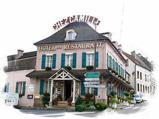 Dessin façade du restaurant Chez Camille, à Arnay-le-Duc.